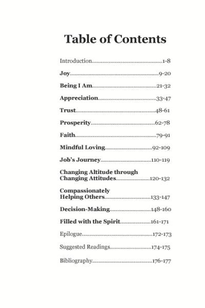 Living Spirit's Guidebook for Spiritual Growth, A Program for Spiritual Transformation, Jef Bartow and Tanya Bartow, Table of Contents